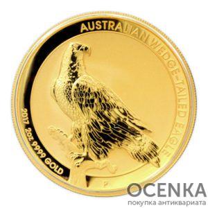 Золотая монета 200 долларов 2017 год. Австралия. Клиновидный орел