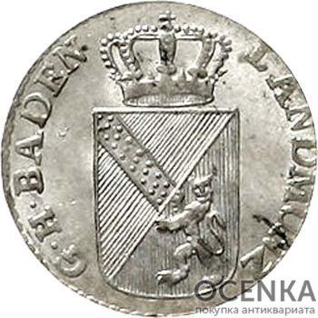 Серебряная монета 3 Крейцера (3 Kreuzer) Германия - 1