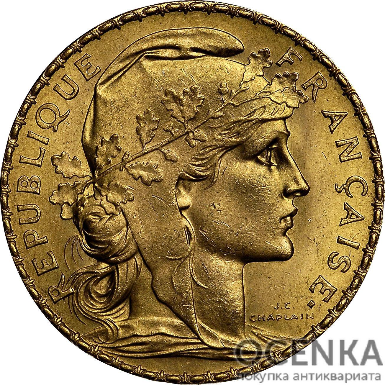 Золотая монета 20 Франков (20 Francs) Франция - 11
