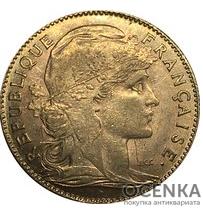 Золотая монета 10 Франков (10 Francs) Франция - 7