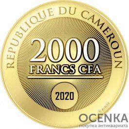 Золотая монета 2000 Франков (2000 Francs) Камеруна - 2