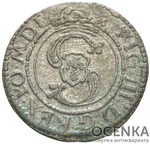 Серебряная монета Двойной Денарий Средневековой Литвы - 1