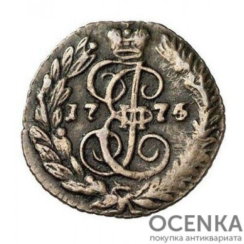Медная монета Полушка Екатерины 2 - 5