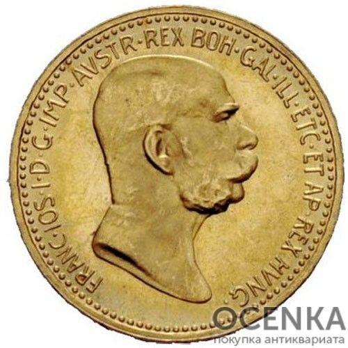 Золотая монета 10 крон Австро-Венгрии - 3