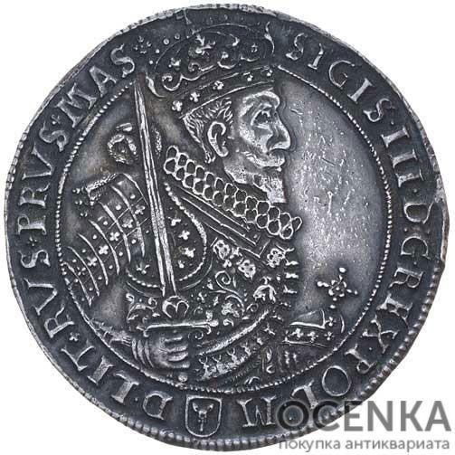 Серебряная монета Талер Средневековой Польши