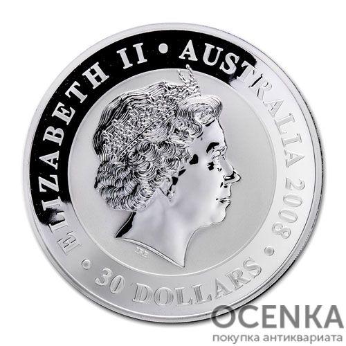 Серебряная монета 30 долларов 2008 год. Австралия. Коала - 1