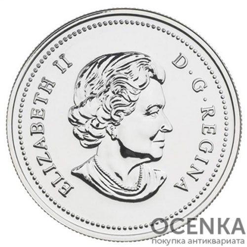 Серебряная монета 1 Доллар Канады - 5