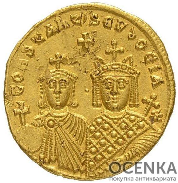 Золотой солид Византии, Василий I Македонянин, 867-886 год - 1