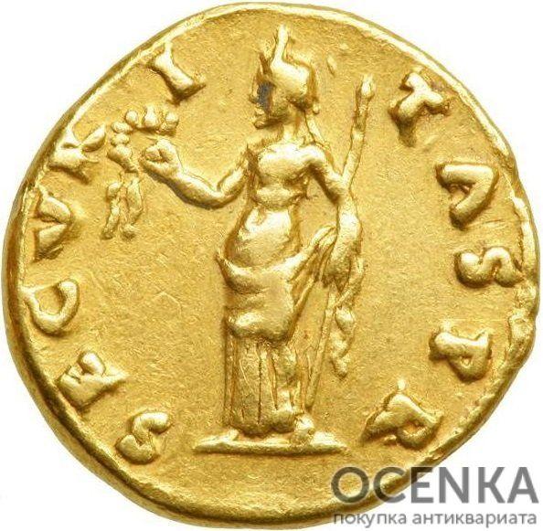 Золотой ауреус, Марк Отон Цезарь Август, 69 год - 1
