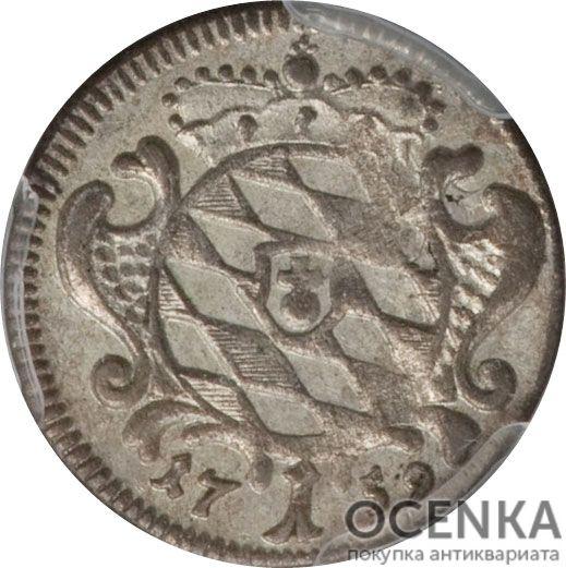 Серебряная монета 1 Крейцер (1 Kreuzer) Германия - 4