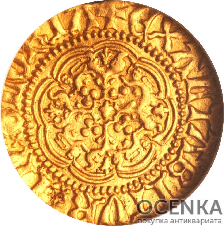 Золотая монета ¼ Noble (1/4 нобля) Великобритания - 4