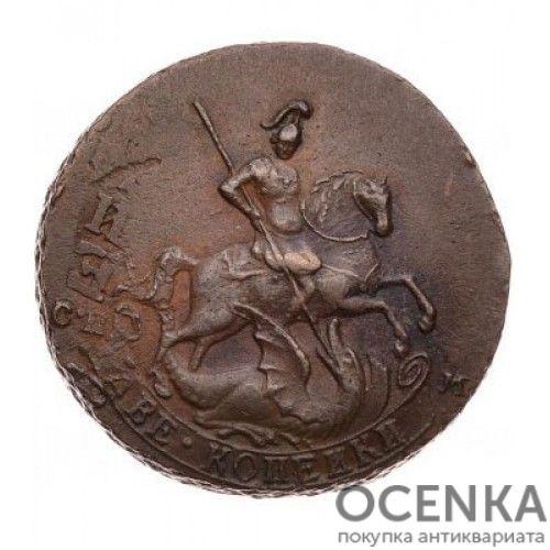 Медная монета 2 копейки Екатерины 2 - 8