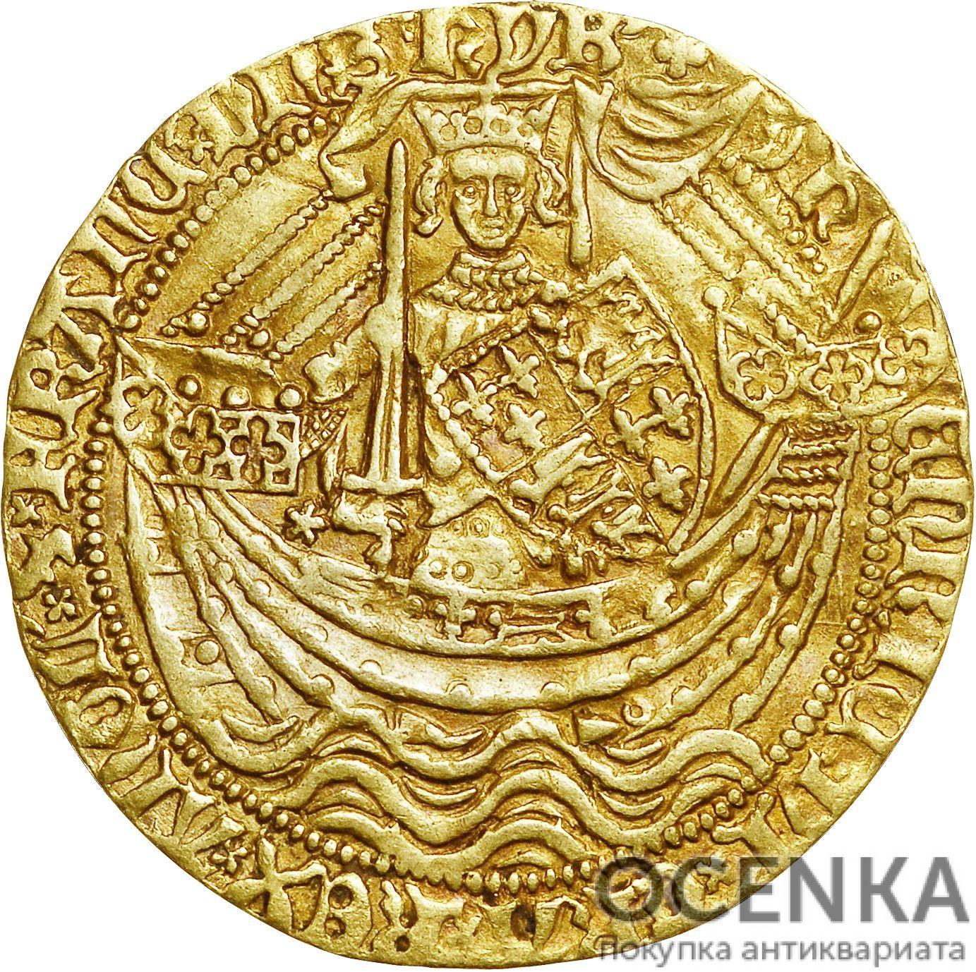 Золотая монета 1 Noble (нобль) Великобритания - 6