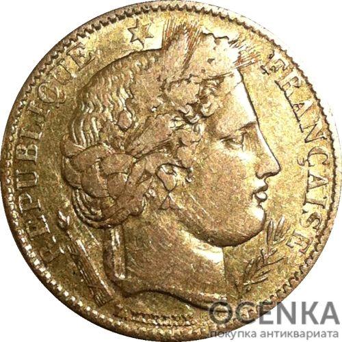 Золотая монета 10 Франков (10 Francs) Франция - 1