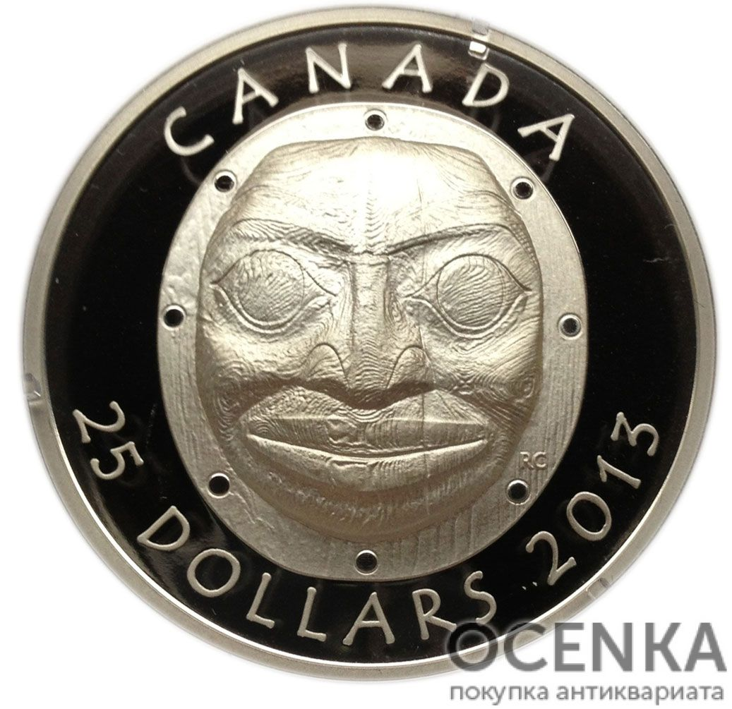 Серебряная монета 25 Долларов Канады