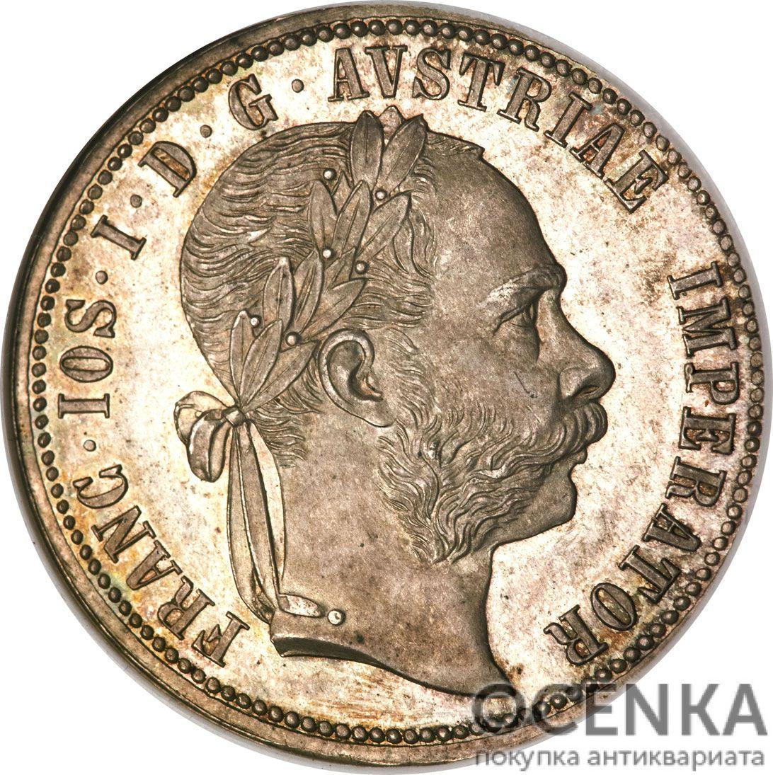 Серебряная монета 1 Флорин (1 Florin) Австро-Венгрия - 5