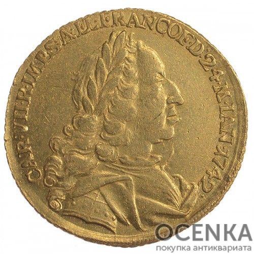 Золотая монета 2 Дуката Германия - 2
