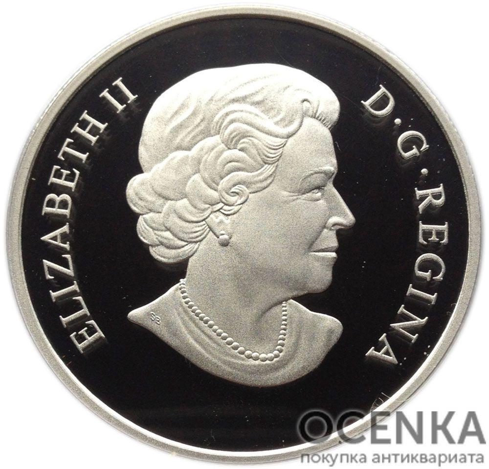 Серебряная монета 25 Долларов Канады - 4