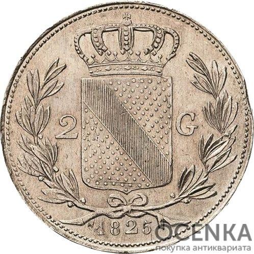 Серебряная монета 2 Гульдена (2 Gulden) Германия