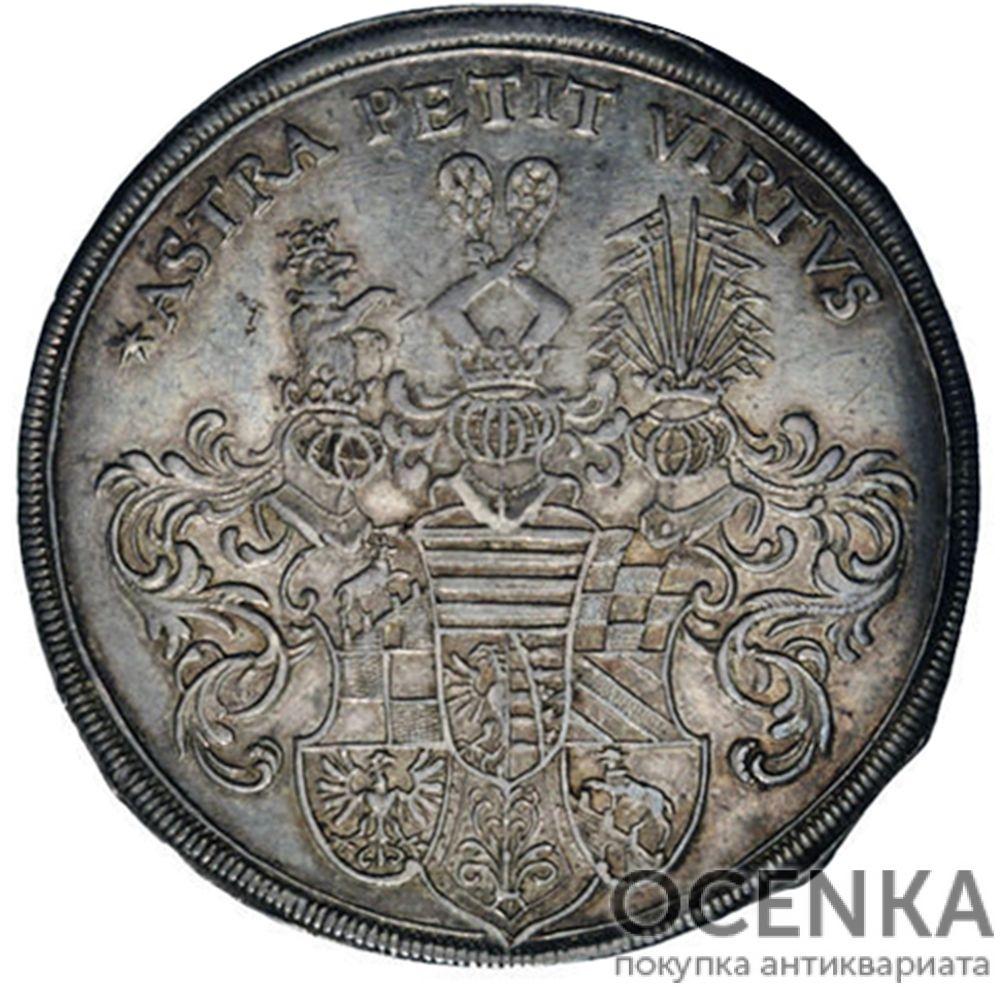 Серебряная монета Талер Средневековой Германии - 2