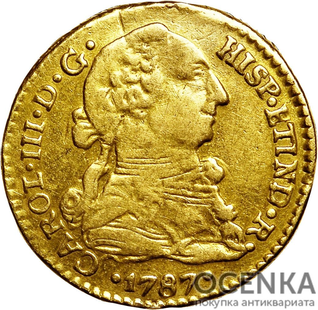 Золотая монета 1 эскудо (1 Escudo) Боливия - 1