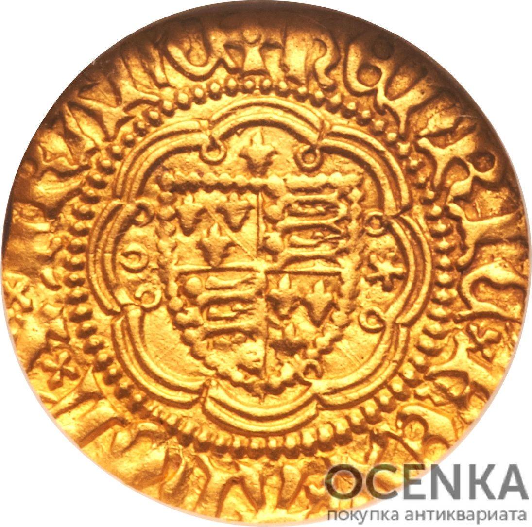 Золотая монета ¼ Noble (1/4 нобля) Великобритания - 5