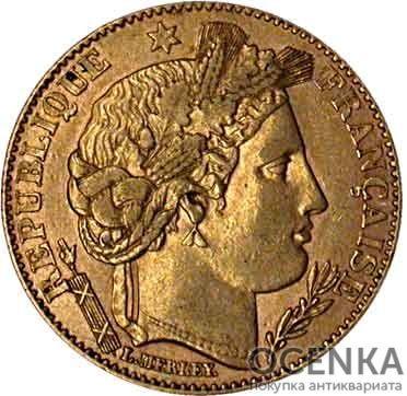 Золотая монета 10 Франков (10 Francs) Франция - 5