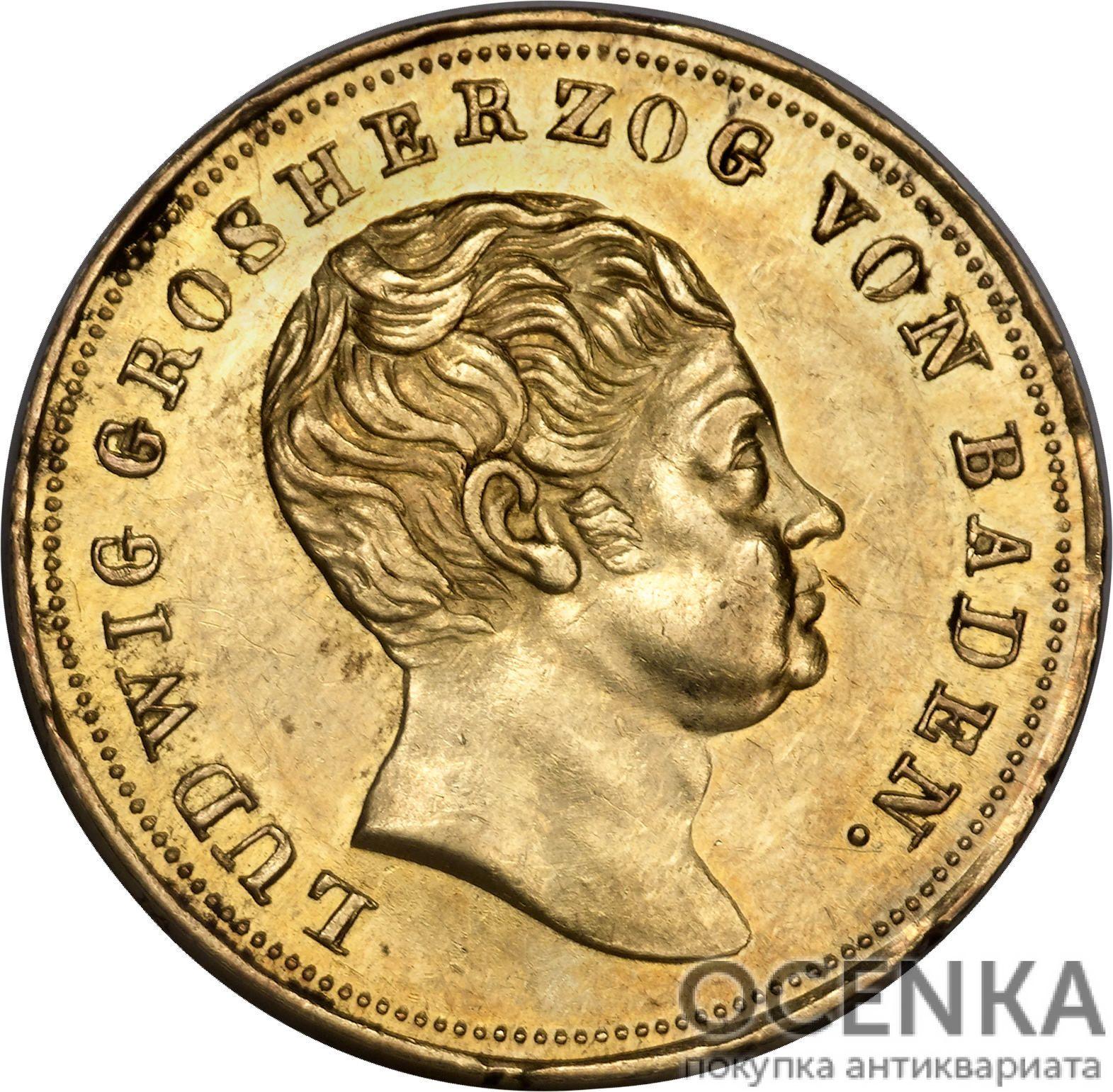 Золотая монета 10 Гульденов Германия - 1