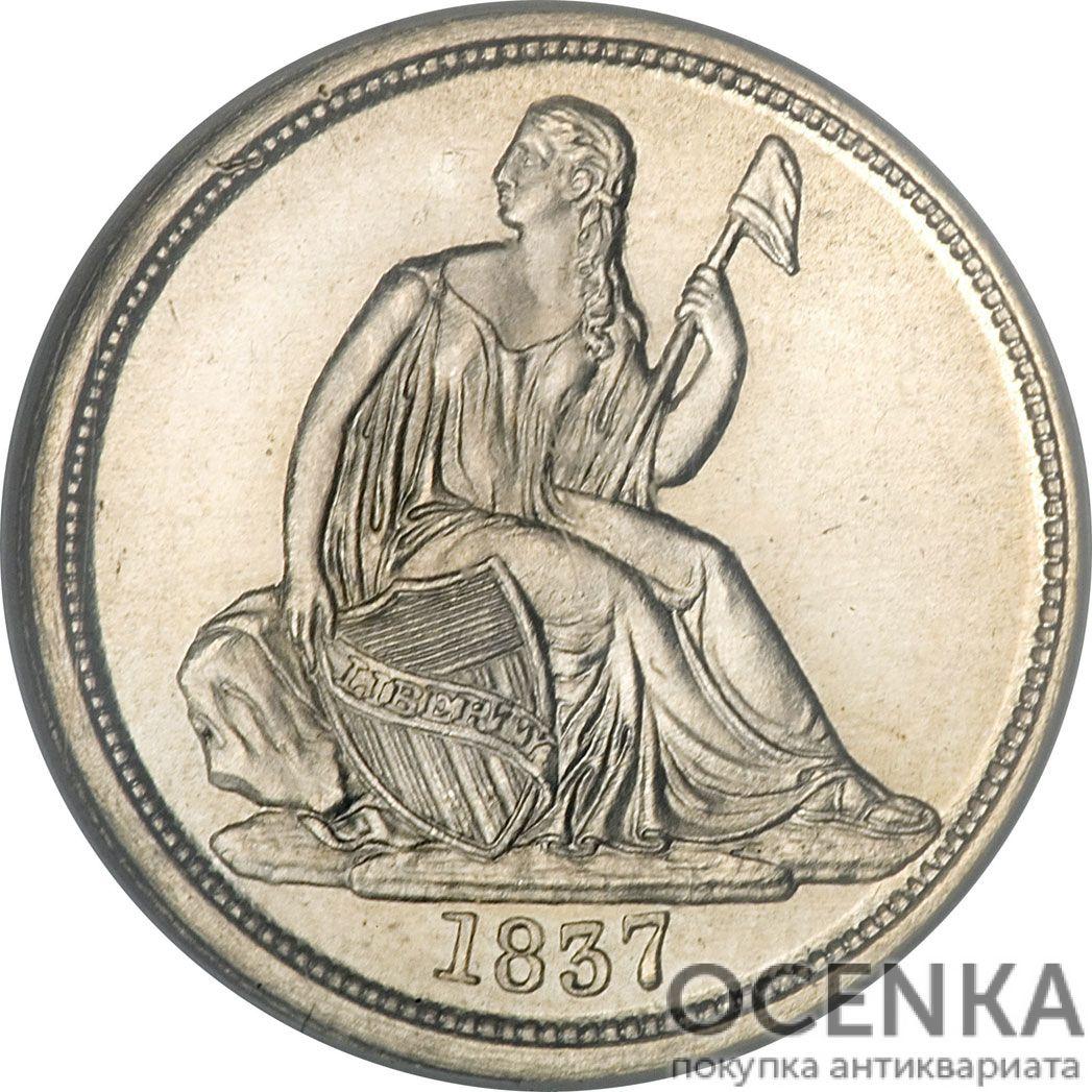 Серебряная монета 10 центов (1 Dime, 10 Cents) США - 5