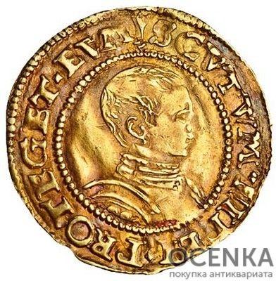 Золотая монета ½ Crown (полкроны) Великобритания - 1