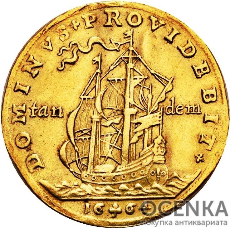 Золотая монета 2 Дуката (2 Ducats, Dukater) Дания - 2