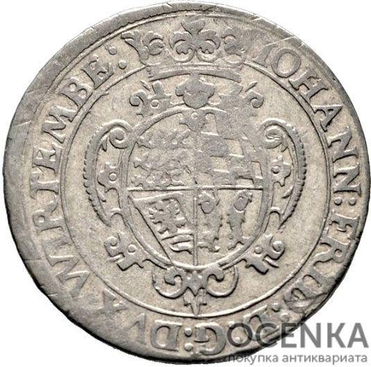 Серебряная монета 60 Крейцеров (60 Kreuzer) Германия - 7