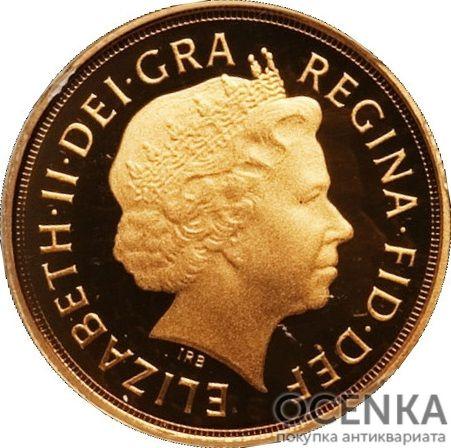 Золотая монета ¼ Sovereign (1/4 соверена) Великобритания - 1