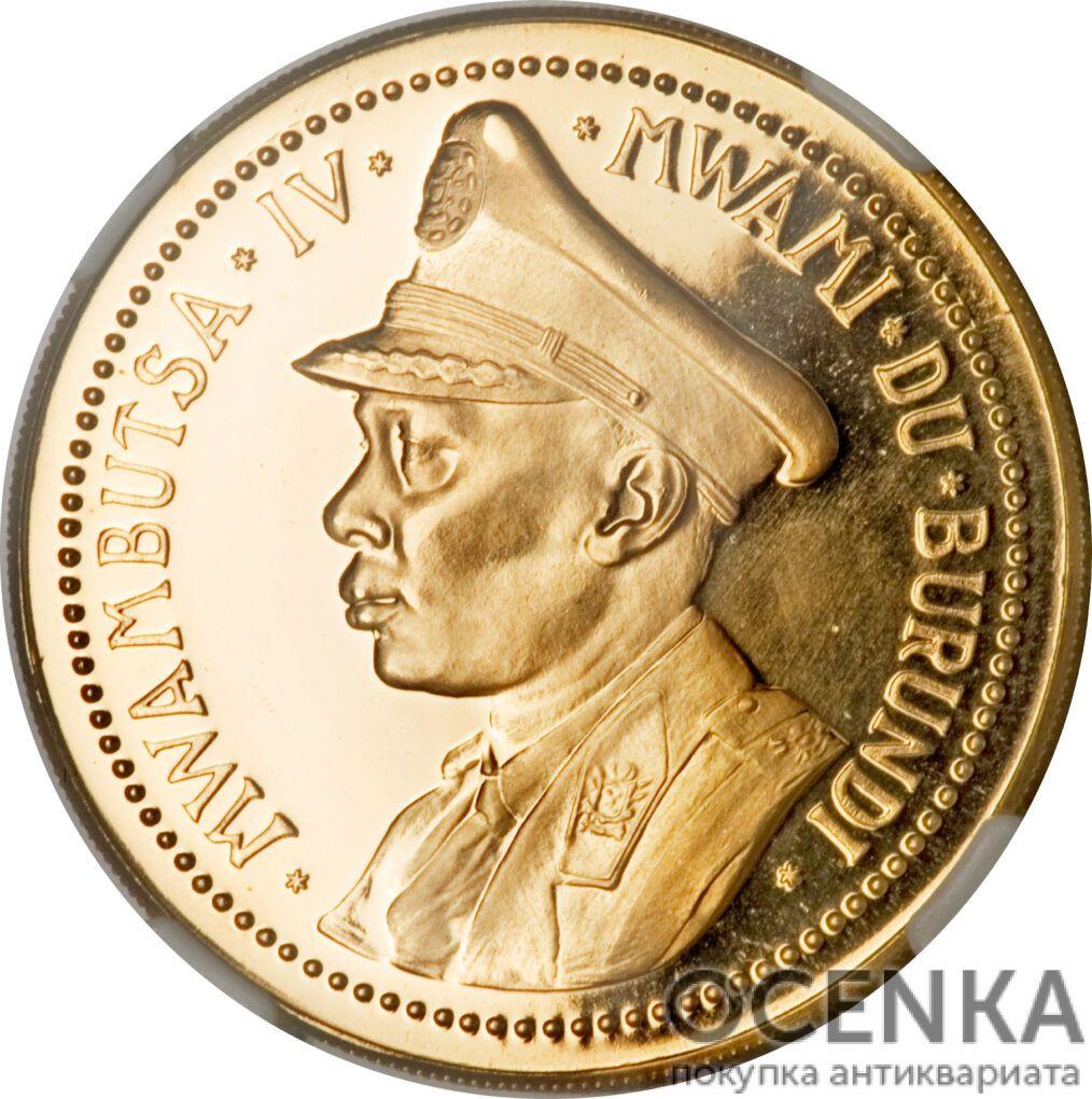 Золотая монета 100 Франков (100 Francs) Бурунди - 1