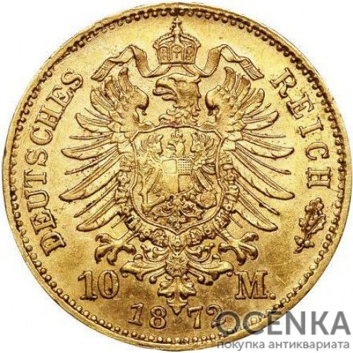 Золотая монета 10 Марок Германия