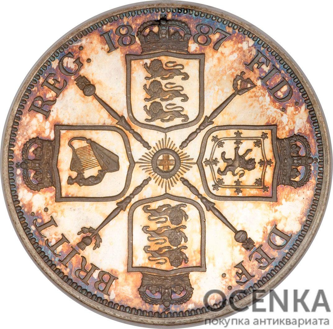 Серебряная монета 2 Флорина (2 Florins) Великобритания