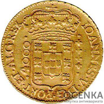 Золотая монета 4000 рейсов (4000 Réis) Бразилия - 2