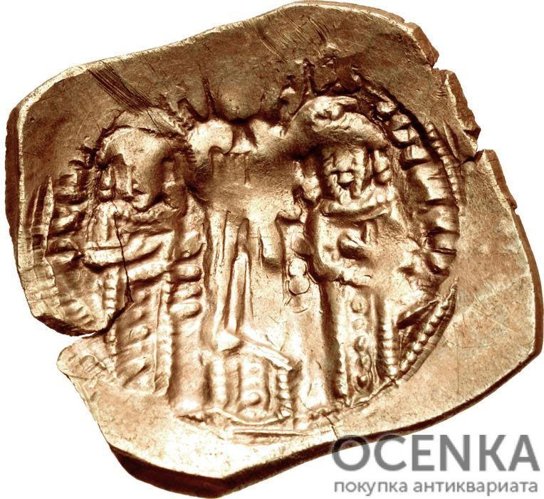 Золотой иперпир Византии, Иоанн V Палеолог и Иоанн VI Кантакузин, 1353-1354 год - 1