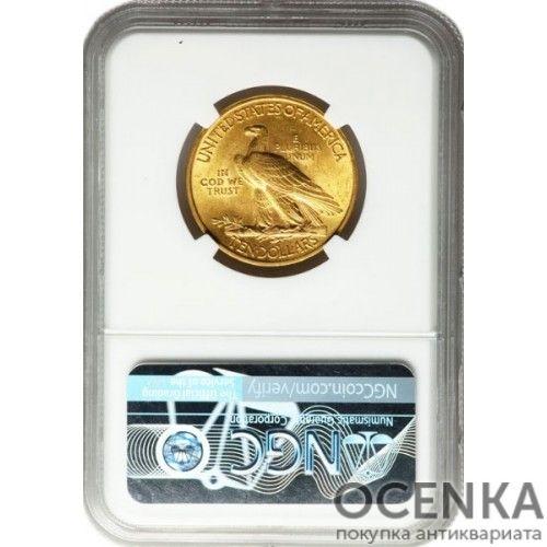 Золотая монета 10 Долларов США в слабе - 3