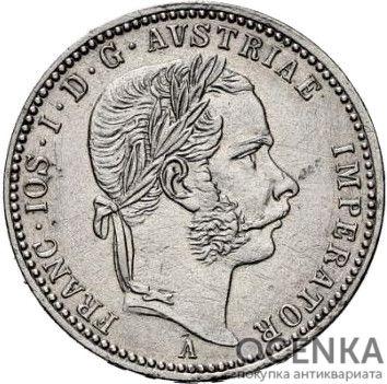 Серебряная монета ¼ Флорина (¼ Florin) Австро-Венгрия - 3