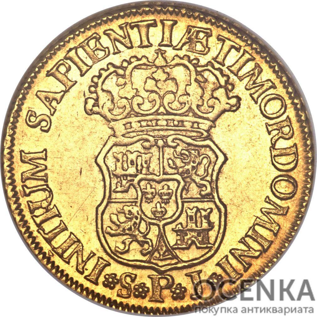 Золотая монета 2 Эскудо (2 Escudos) Испания - 6