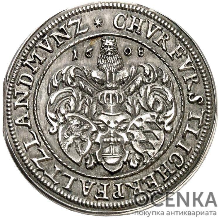 Серебряная монета Гульден Средневековой Германии