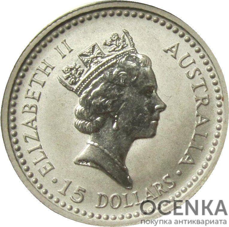 Платиновая монета 15 долларов Австралии