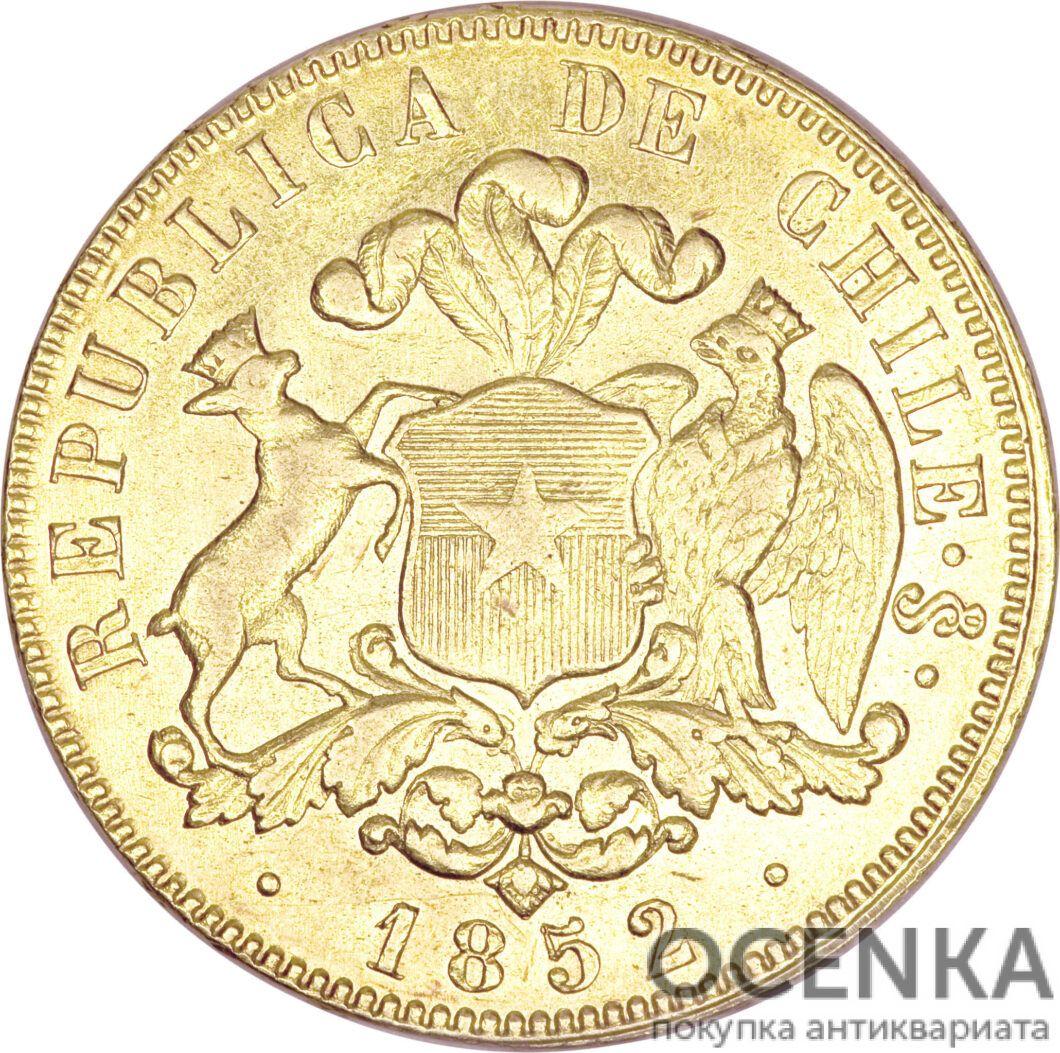 Золотая монета 10 Песо (10 Pesos) Чили - 1
