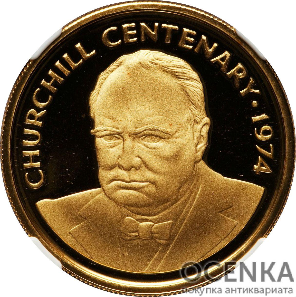 Золотая монета 100 Долларов Острова Кайман - 1
