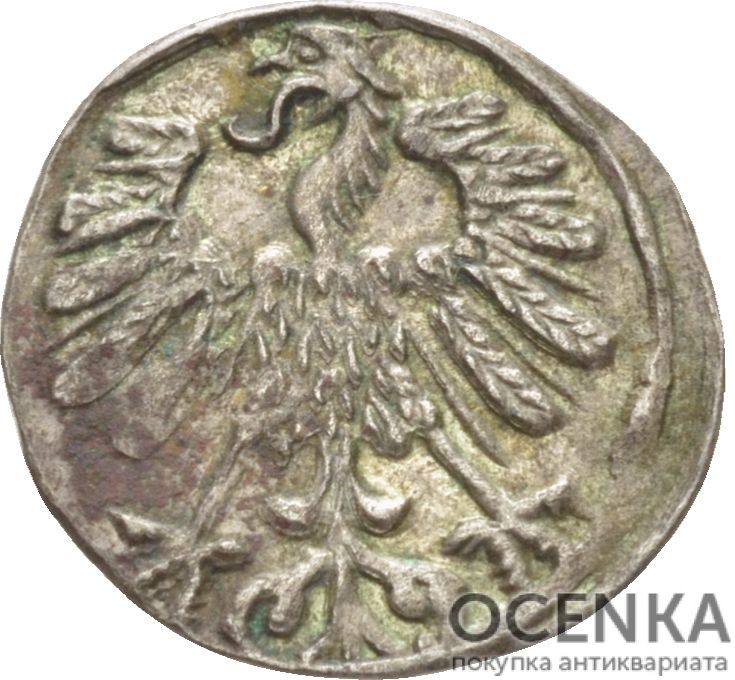 Серебряная монета Денарий Средневековой Литвы - 1