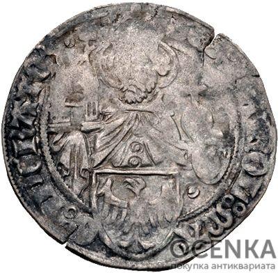 Серебряная монета Грош Средневековой Германии - 1