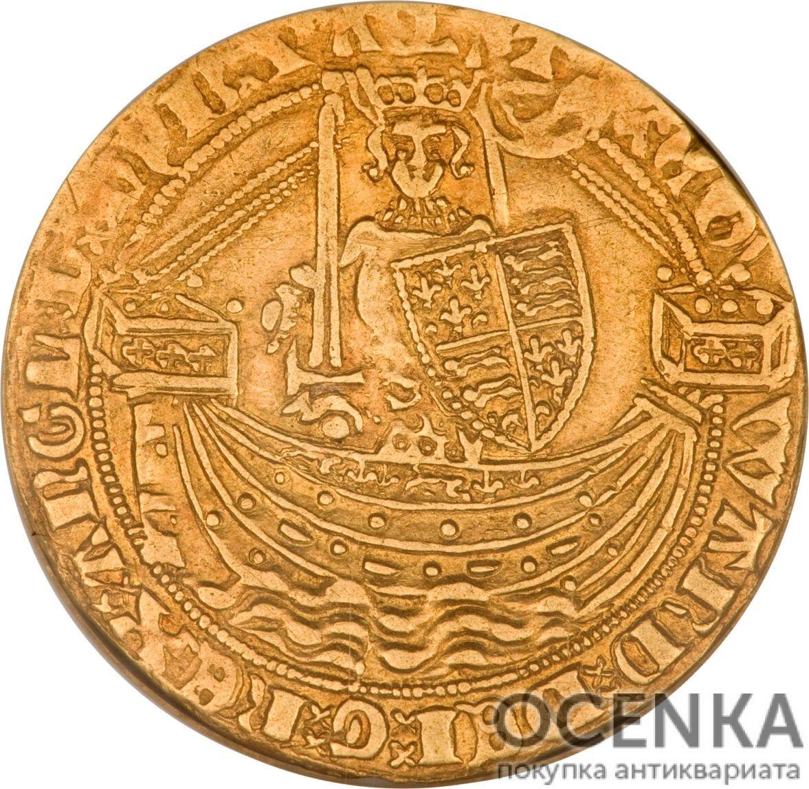 Золотая монета ½ Noble (1/2 нобля) Великобритания - 3