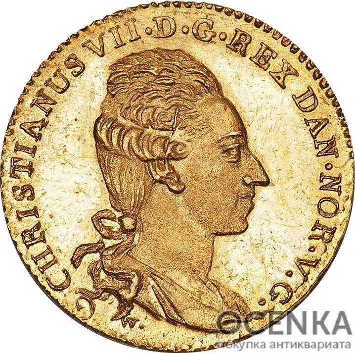 Золотая монета 12 Марок (12 Mark) Дания - 3