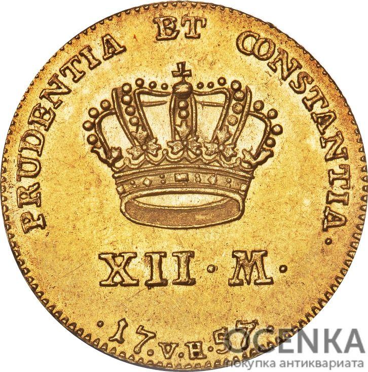 Золотая монета 12 Марок (12 Mark) Дания